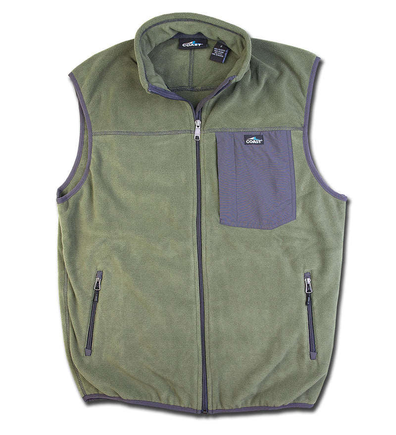 Men's Fleece Vest - Olive