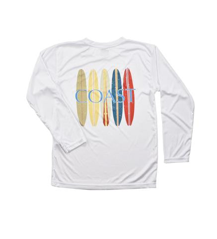 Surf Boards Performance Shirt - White - Youth