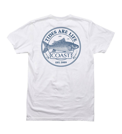 Tides are Life - White Tee