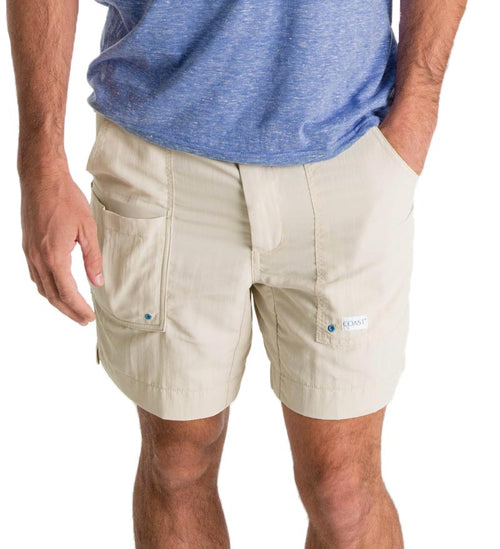 "quick dry 6.5"" inseam moonbeam angler shorts - fishing shorts - casual shorts - beach shorts"