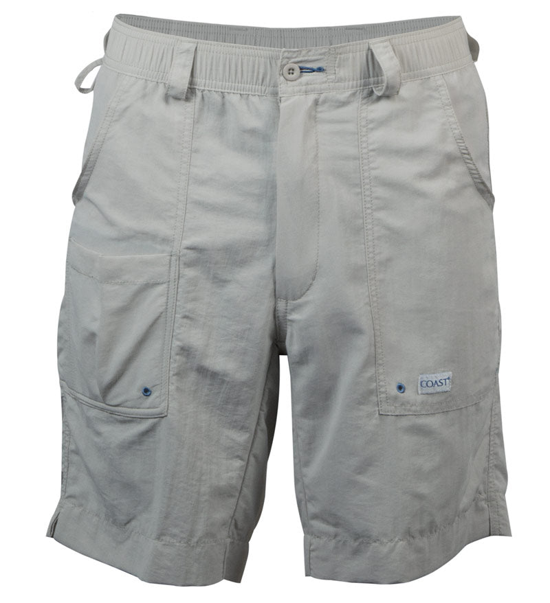 angler shorts - fishing shorts - koozie pocket shorts