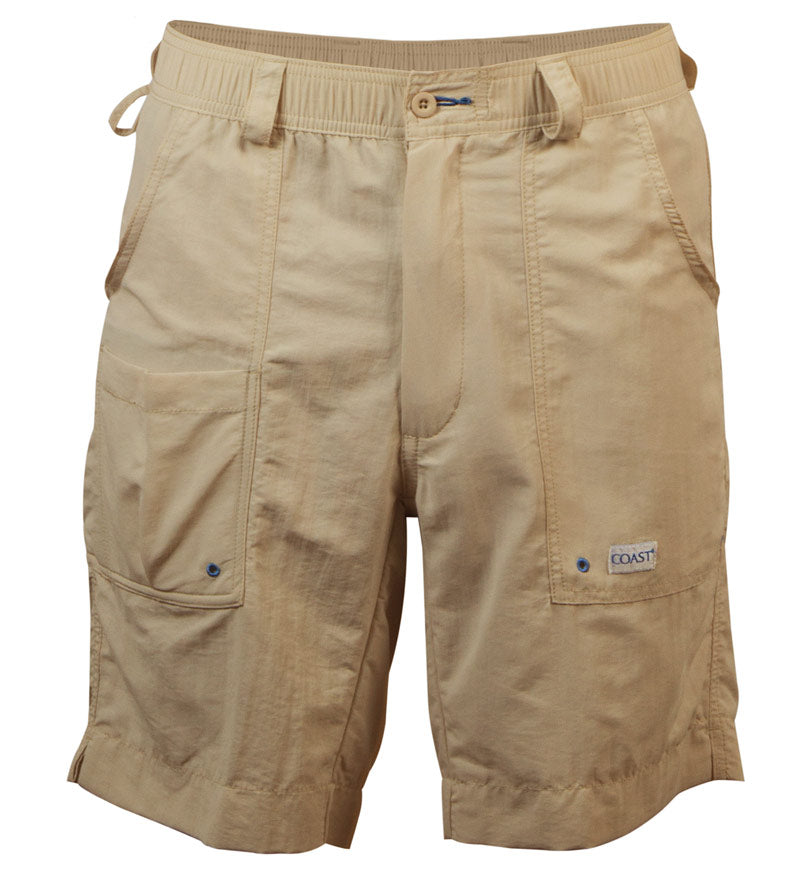 angler shorts front - quick dry