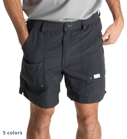 "black 6.5"" angler shorts - fishing shorts - beach shorts - quick dry"