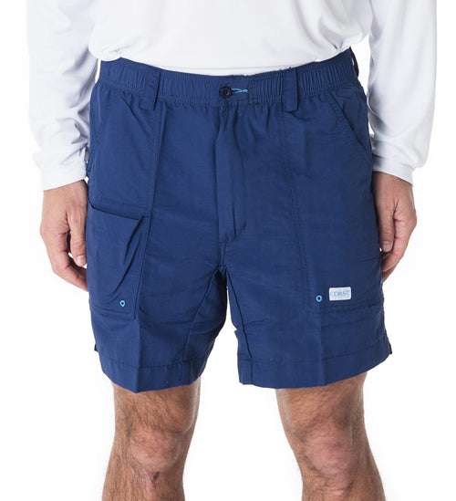 "6.5"" navy angler shorts - fishing shorts - casual shorts - beach shorts - swim shorts"