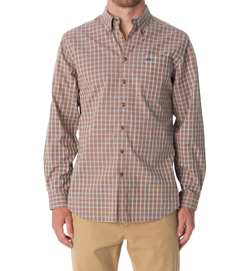 casual button down shirts - dress shirt with plaid pattern