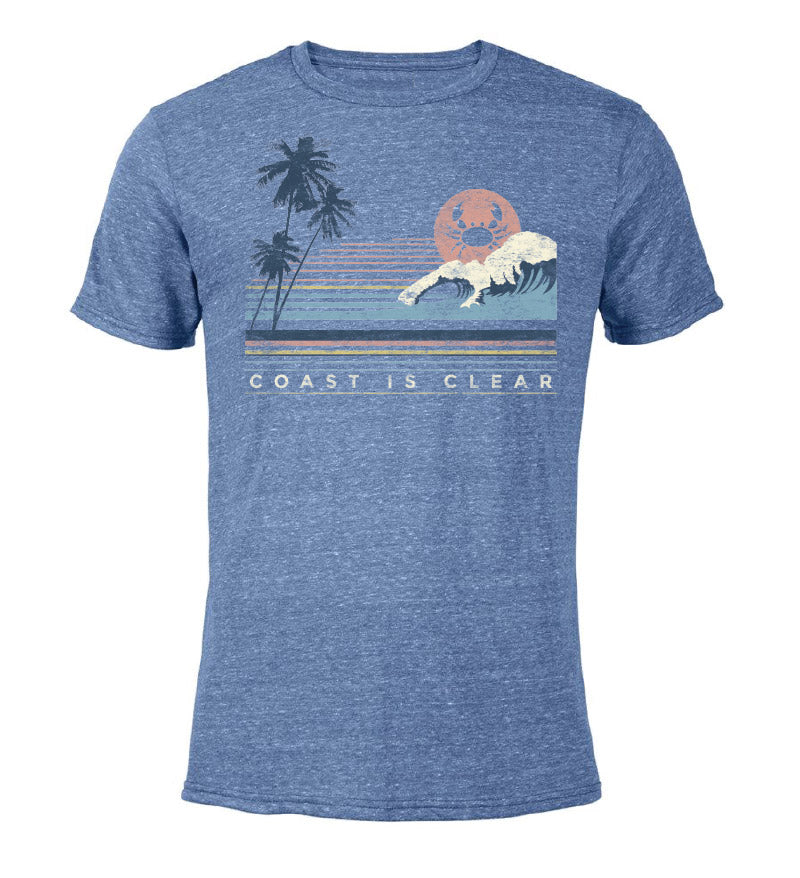 coast is clear t-shirt - 5% of sales donated to reduce plastic pollution