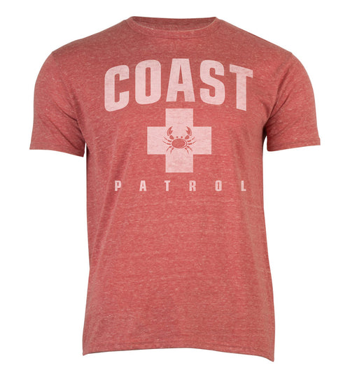 Coast Patrol Cool Tee - Red Heather T-shirt