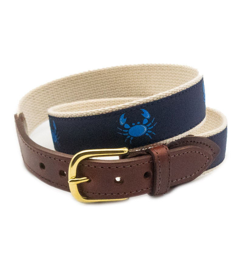 Crab Canvas Belt