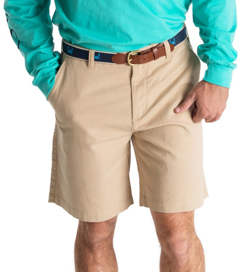 "Deck Shorts 8.5"" - Coast Apparel Khaki Flat Front Shorts"
