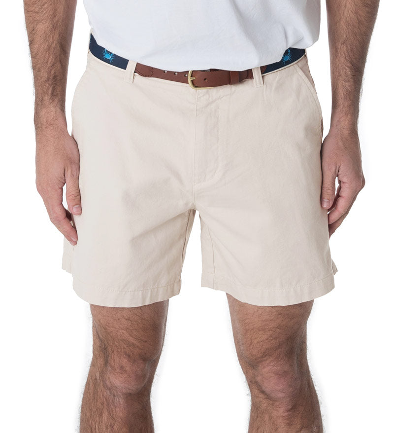 "Deck Shorts 6.5"" - Coast Apparel Stone Flat Front Shorts"