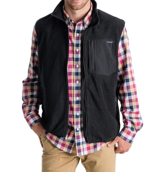 fireside flannel vest - zip up vest