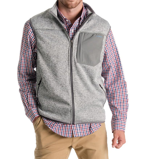 fireside flannel fleece vest - zip up vest