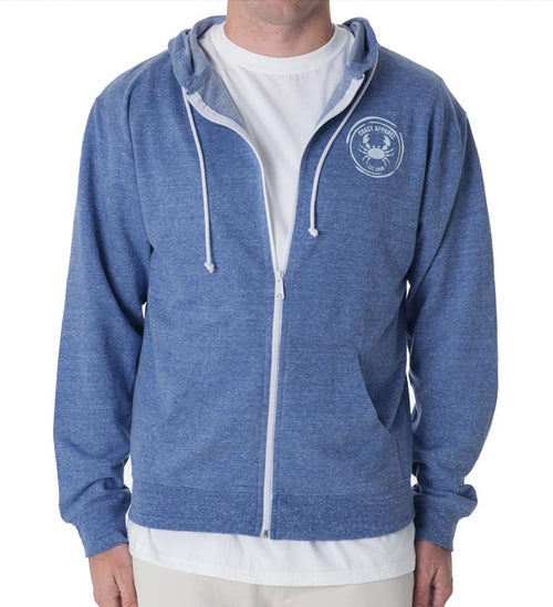 French Terry Zip Hoodie - Royal Heather