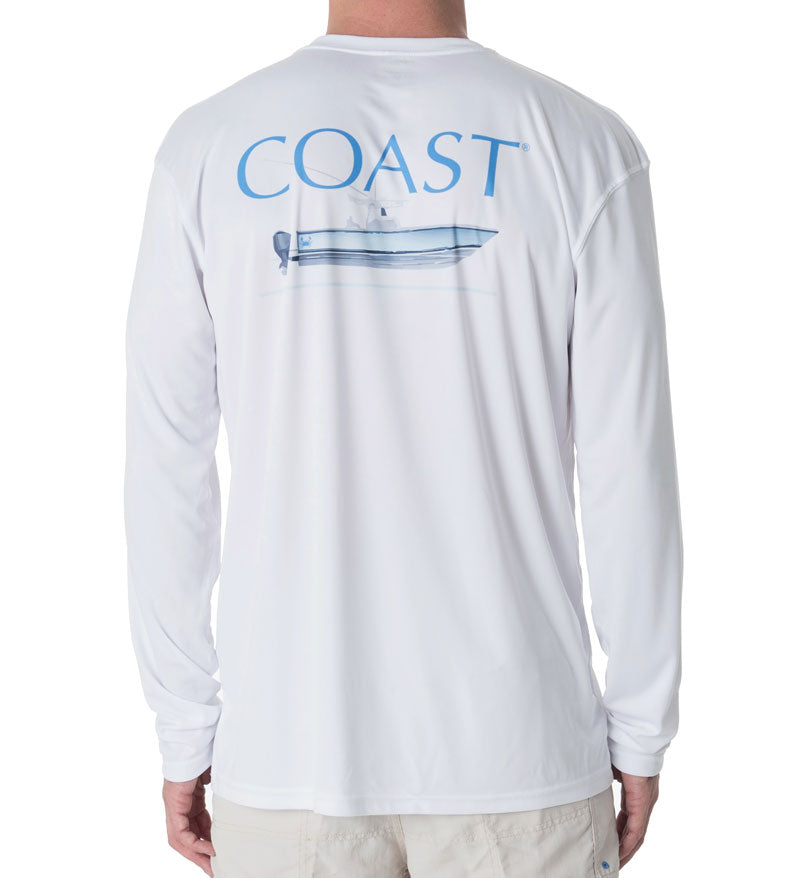 Fishing Boat Performance Shirt - White