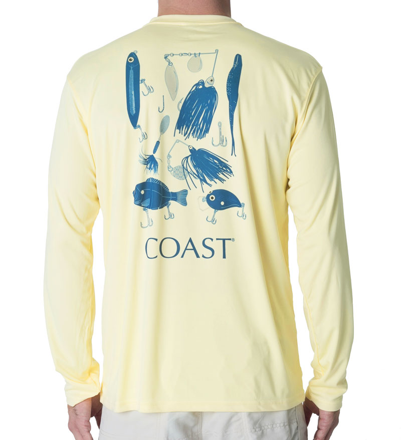 Lure Chart Performance Shirt - Pale Yellow