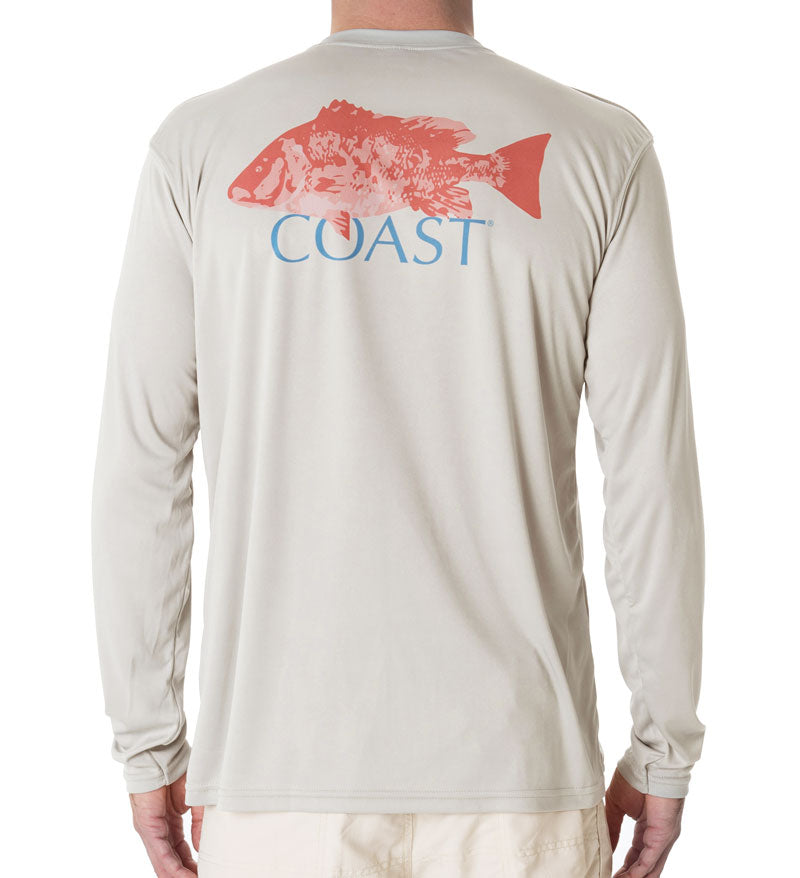 Red Snapper Performance Shirt - Grey