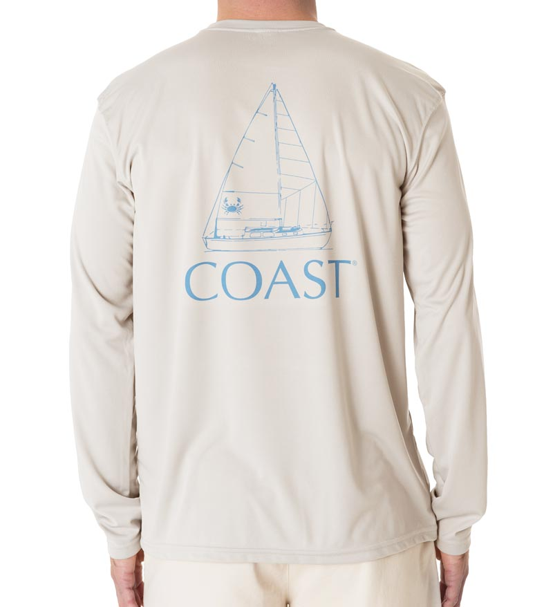 Sail Boat Performance Shirt - Grey