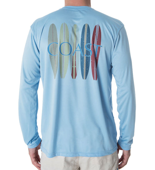 Surfboards Performance Shirt - Columbia Blue