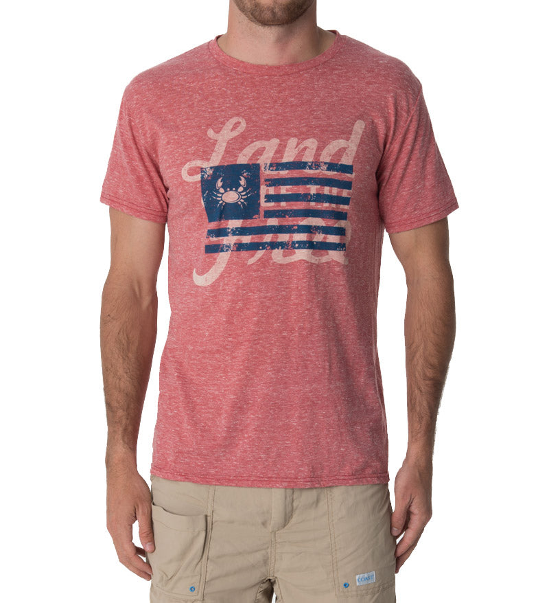 Land of the Free flag - Coast Apparel Cool T-Shirt