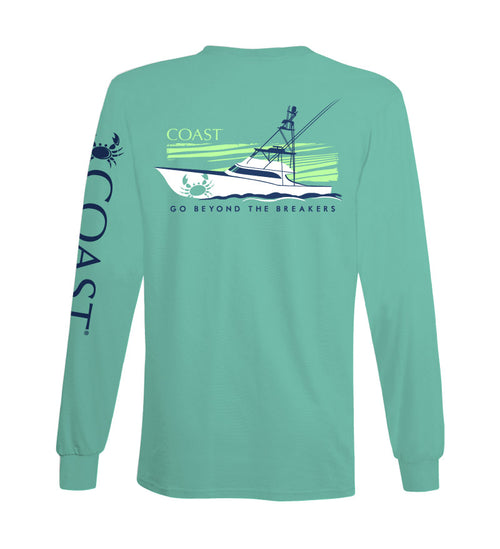 offshore boat long sleeve tshirt - back