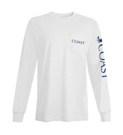 white long sleeve t-shirt - back