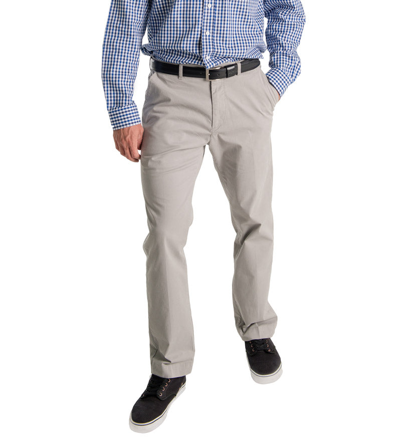 men's pants for the beach, bar or boardroom - grey front