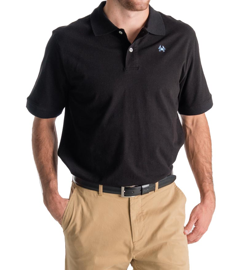 winyah mens polo - black