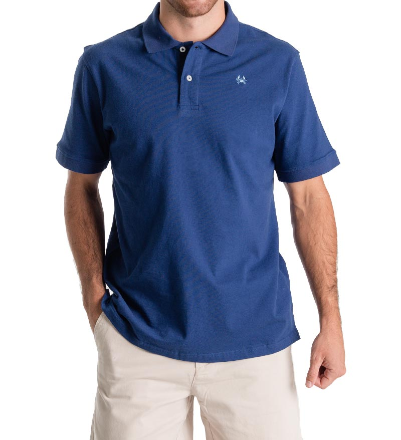 Winyah Men's Polo - Navy front