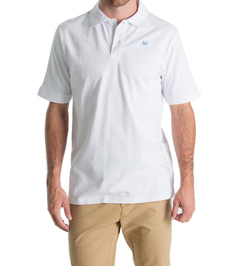 winyah mens polo - white front