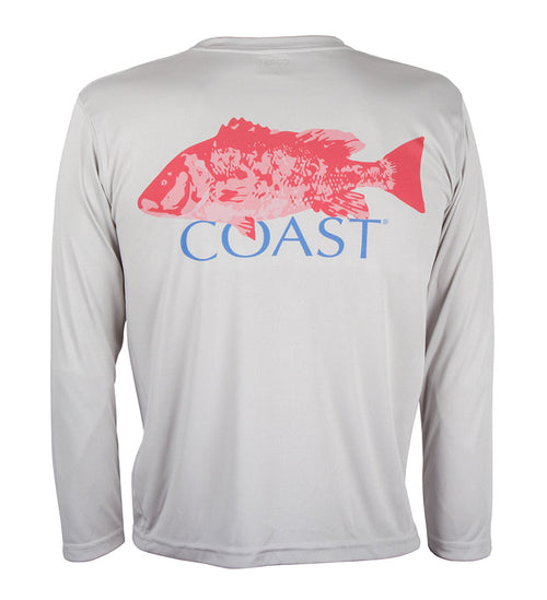 red snapper youth performance tee - fishing t-shirt