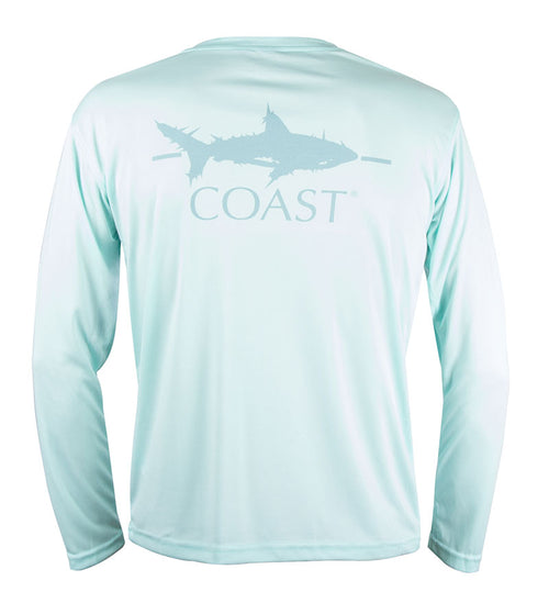coast shark youth performance t-shirt - sun protection
