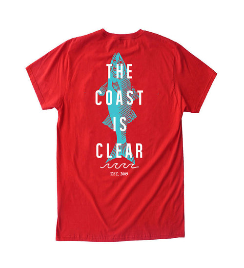 The Coast is Clear - Red Tee