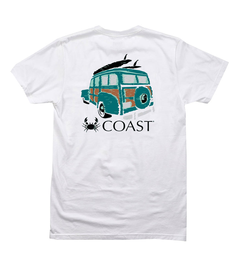 woodie cool tee in white