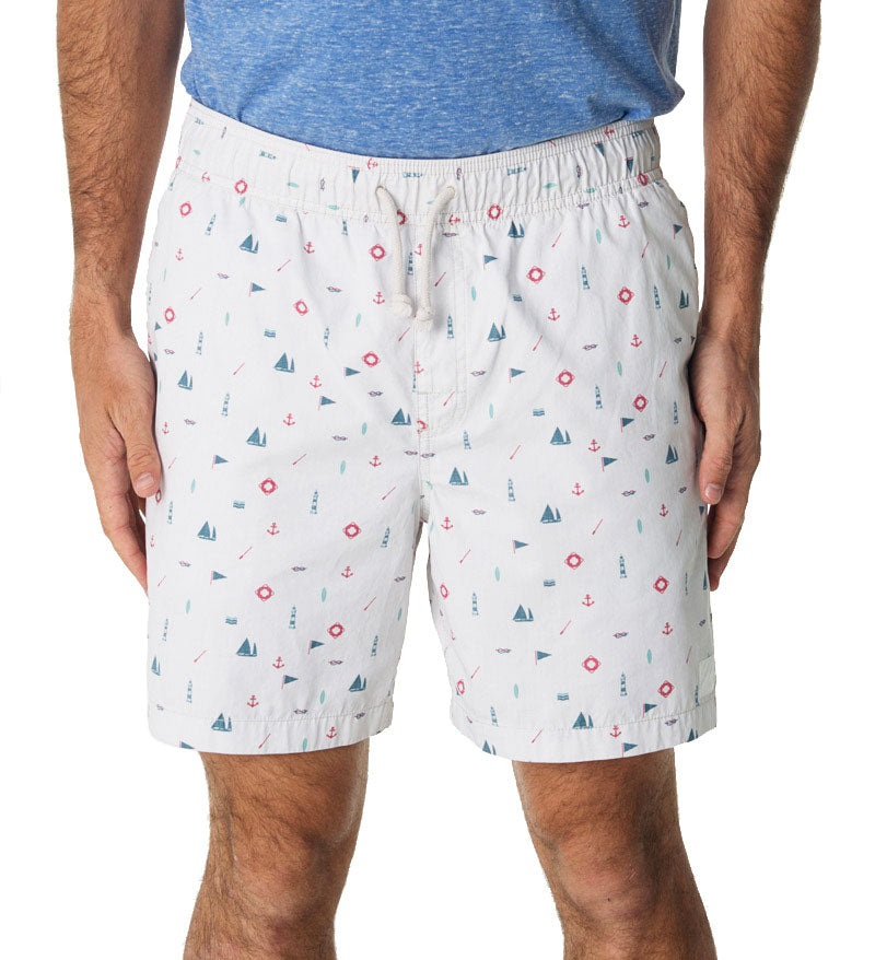 Nautical Swim Trunks
