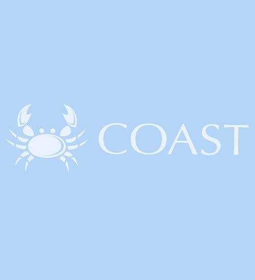 white coast apparel decal, crab decal 7 inch decal