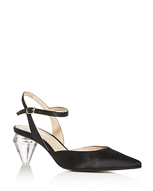 Marc Jacobs Women's The Slingback Pointed-Toe Pumps-BLACK-6M