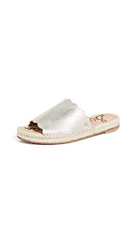 Sam Edelman Women's Andy Espadrilles, Light Gold, 7.5 Medium US