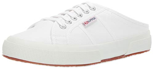 Superga Women's 2402 COTW Sneaker, White, 41 M EU (9.5 US)