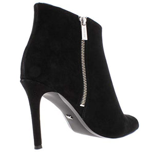 Michael Michael Kors Womens Harper Faux Suede Booties Black 10 Medium (B,M)