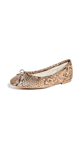 Sam Edelman Women's Felicia Flats, Brown Snake Print, 6.5 Medium US