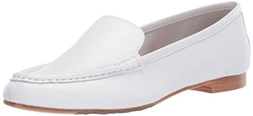 Taryn Rose Women's Collection Diana Loafer Flat, White, 8 M M US