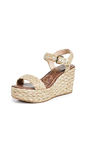 Sam Edelman Women's Deena Espadrilles, Natural, Tan, Off White, 10 Medium US