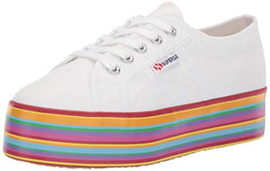 Superga Women's 2790 Multicolor COTW Sneaker, White/Multi, 39.5 M EU (8.5 US)