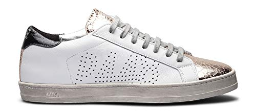 P448 Women's John White/GOP Italian Leather Sneaker EU 41/ US 10.5-11