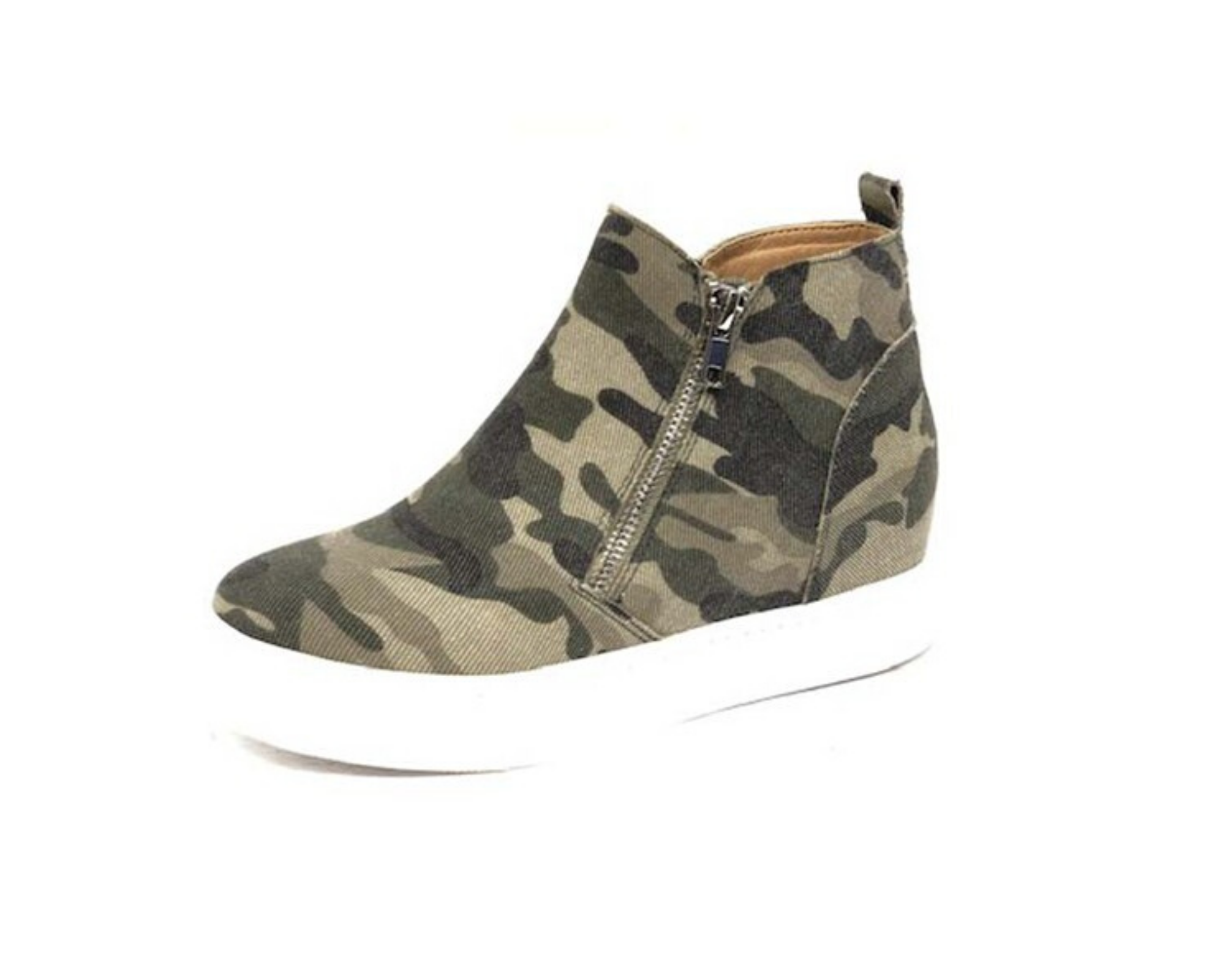Stepping Out in Camo Sneakers