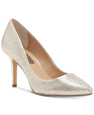 INC Women's Zitah Rhinestone Pointed Toe Pumps Size 12M