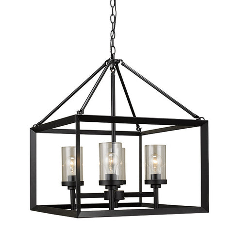 Russell 111-621 BLK - 4 Light Chandelier - 1198795 N
