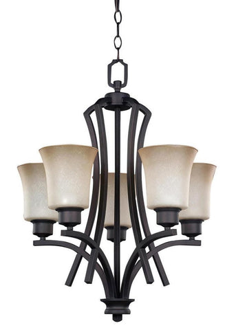 Canarm RICH250A05ORB - 5 Light Oil Rubbed Bronze Chandelier - 1147152 N