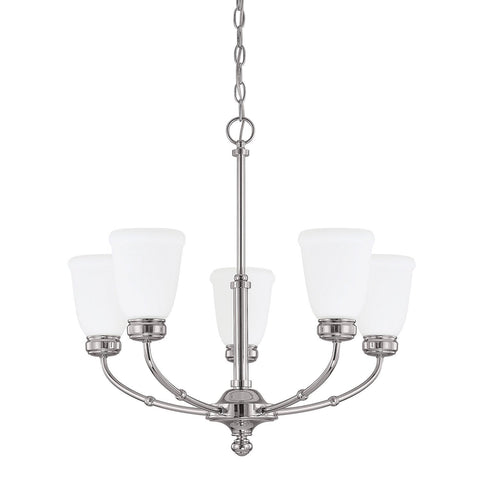 Capital 4575PN 289 5L - 5 Light Polished Nickel Chandelier - DISPLAY MODELS ONLY - 1510721 N
