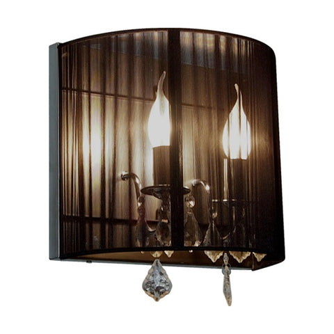Artcraft AC387 BK - 2 light Black Wall Sconce - DISPLAY MODEL ONLY - 1154930 N